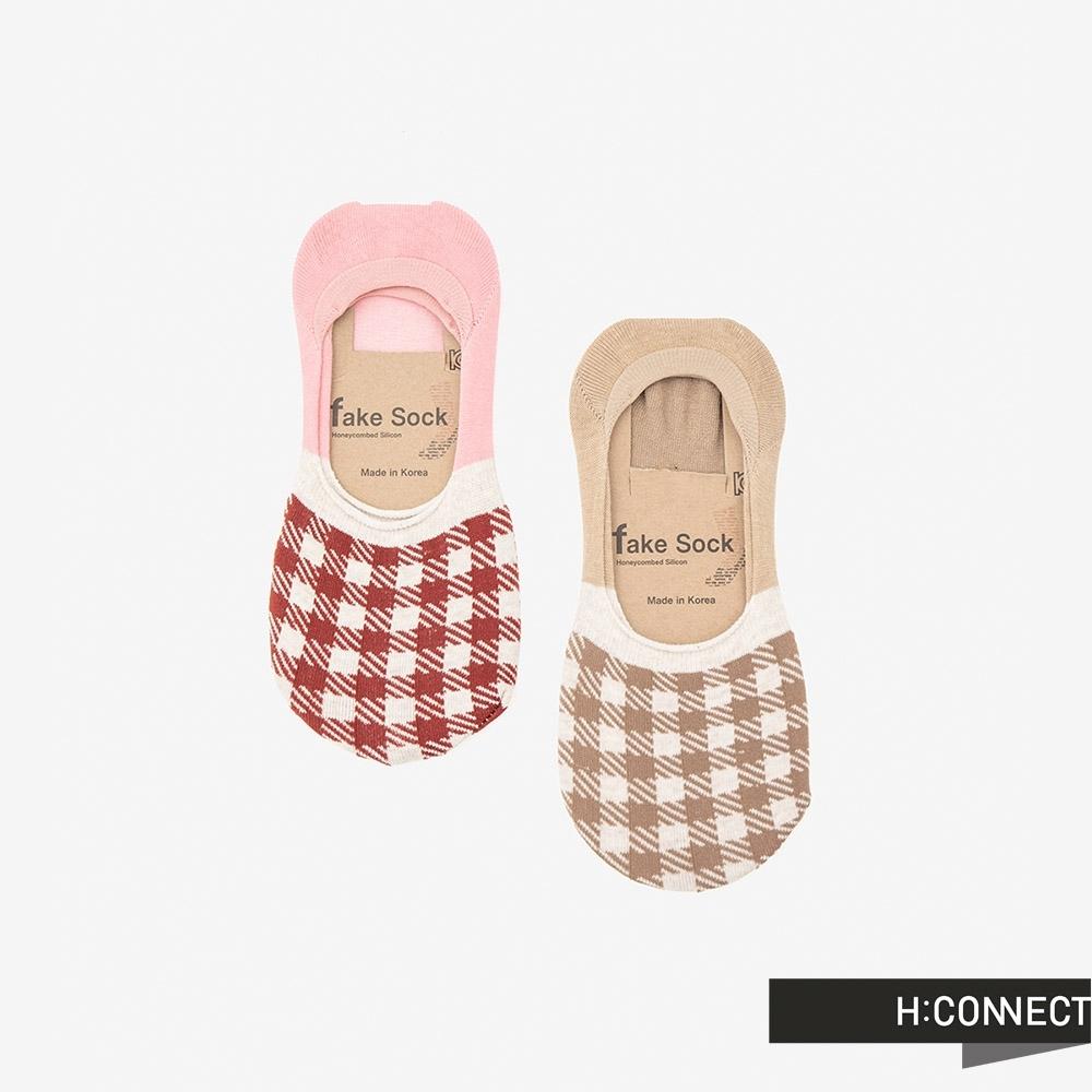 H:CONNECT 韓國品牌 配件 -清新格子隱形襪組