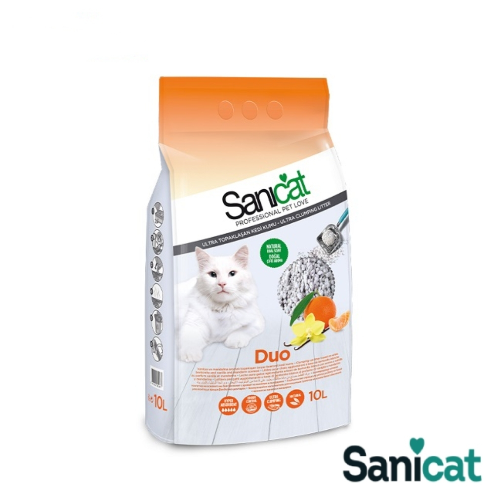 SaniCat Duo 香味雙重奏凝結貓砂 10L 凝結力佳 低粉塵 除臭 抗菌 吸水力佳