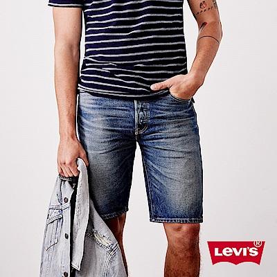 Levis 男款 牛仔短褲 505 修身直筒版型 Cool Jeans
