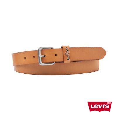 Levis 男款 皮帶 質感金屬釦 立體Logo皮環