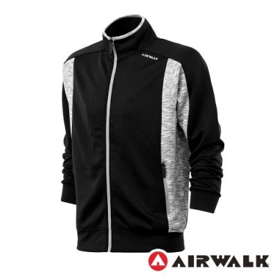 【AIRWALK】彈性針織外套-男-黑