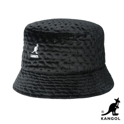 KANGOL-DASH 紋路護耳漁夫帽-黑色
