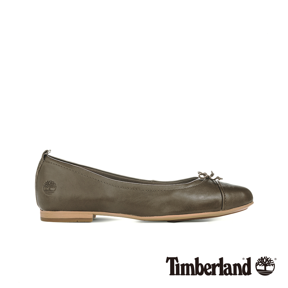 Timberland 女款橄欖綠皮革芭蕾舞鞋|A1TSU