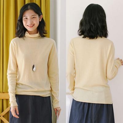 100全羊毛衫高領毛衣寬鬆內搭衫3色-設計所在