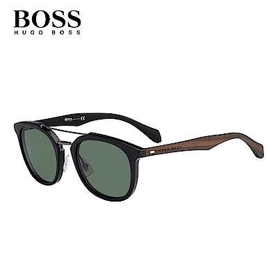 HUGO BOSS BOSS 1004/S-時尚拼接型男太陽眼鏡-黑框