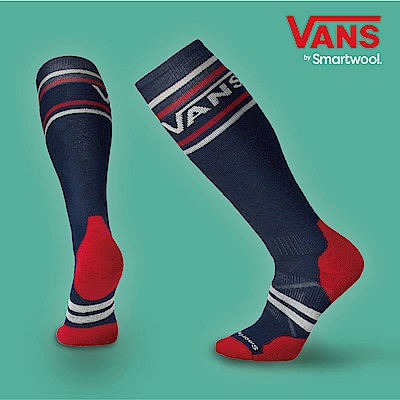 SmartWool X VANS 聯名款PhD滑雪中級減震高筒襪 深海軍藍