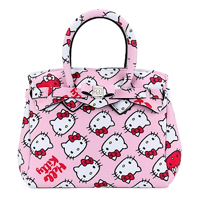 SAVE MY BAG Petite Miss系列Hello Kitty輕量托特包-粉紅色