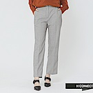 H:CONNECT 韓國品牌 女裝-俐落格紋西裝褲-灰