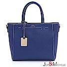 J&M 真皮坦尼婭手提吊飾包 注目藍