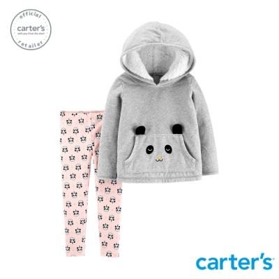 Carter s台灣總代理 灰熊連帽長袖2件組套裝