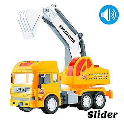 Slider聲光磨輪工程車 怪手工程車