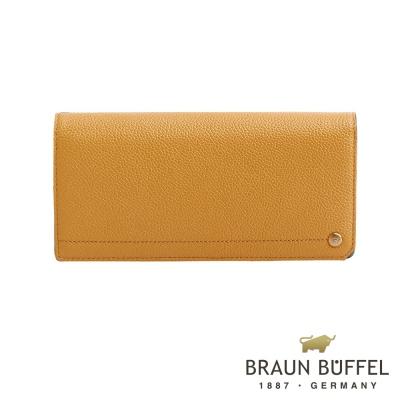 BRAUN BUFFEL - 珍妮絲系列18卡兩折長夾 - 晨光黃
