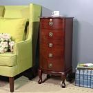 Asllie 英式古典五抽櫃/收納櫃/邊櫃/電話櫃/床頭櫃-40x36x92.5cm