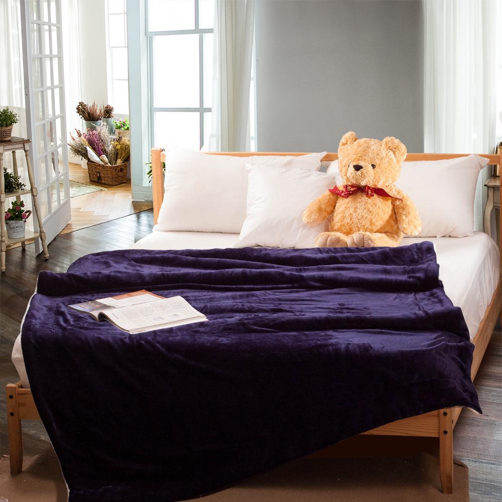 Carolan-藍 羊羔/法萊絨 厚毯(150x200cm)