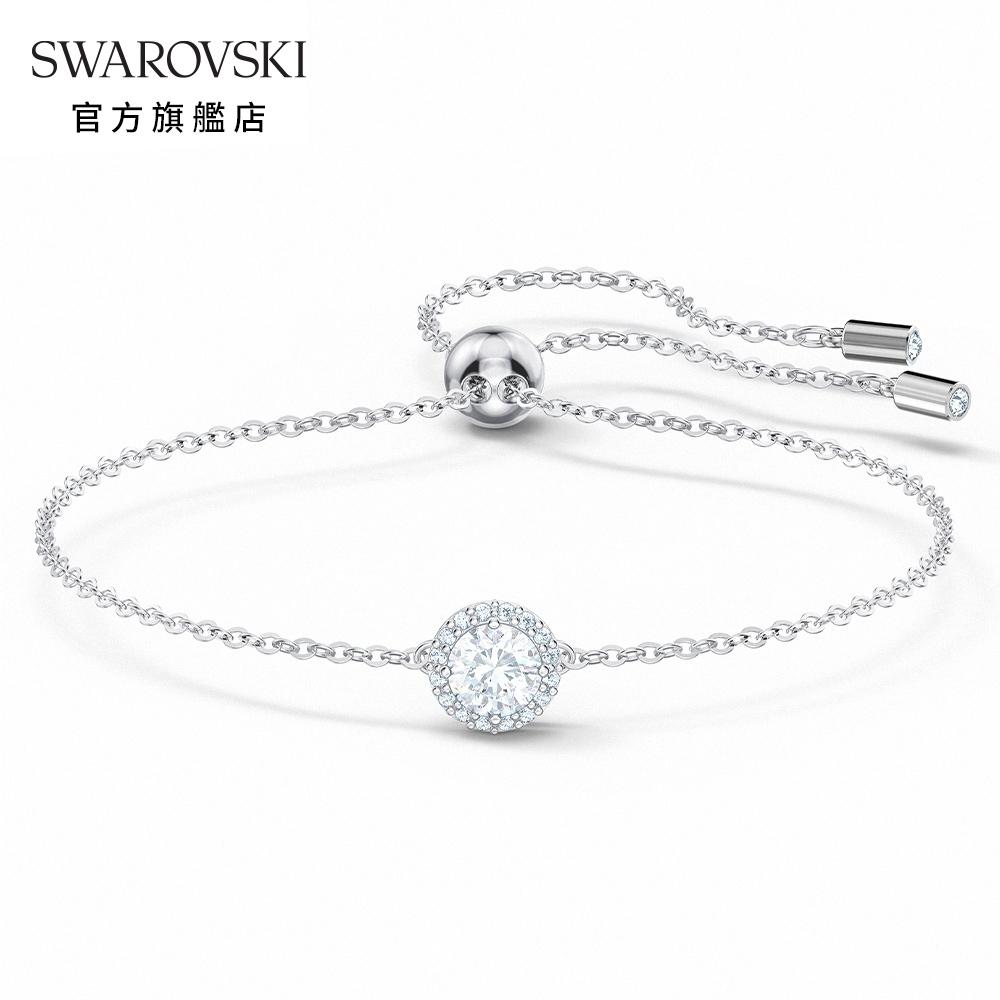SWAROVSKI 施華洛世奇 Angelic 白金色典雅水晶手鏈