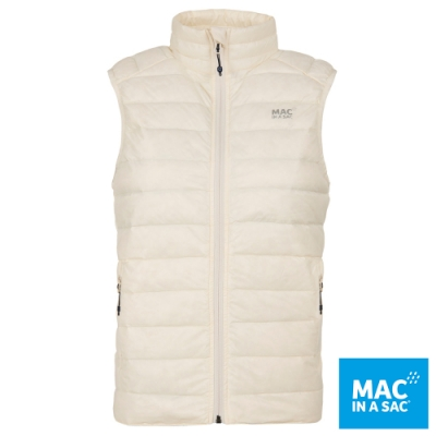 【MAC IN A SAC】女款輕暖袋著走羽絨保暖背心LDS179米白/極輕量易收納攜帶