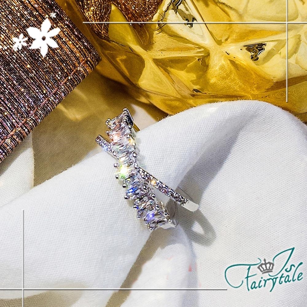 iSFairytale伊飾童話 邂逅交錯 璀璨鋯石開口戒指 13號