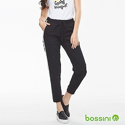 bossini女裝-輕鬆束口長褲01黑
