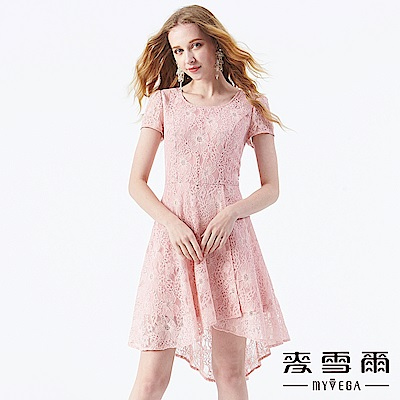 【麥雪爾】法式立體雕花蕾絲洋裝
