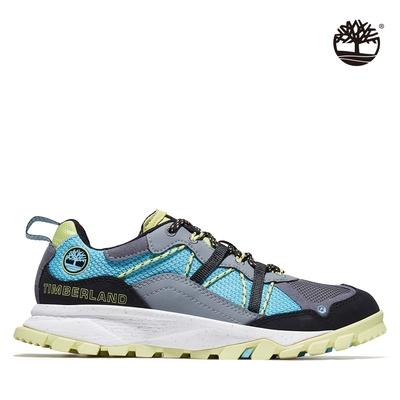 Timberland 男款綠寶石Garrison Trail灰色網眼低筒健行鞋|A2AKB