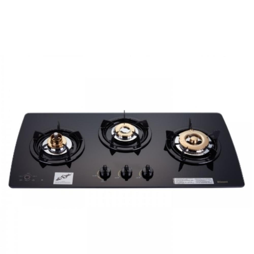 (全省安裝)林內美食家三口檯面爐黑色與白色瓦斯爐天然氣RB-3GMB_NG1