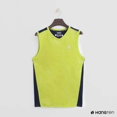 Hang Ten-男裝 -ThermoContro-撞色拼接造型背心-綠