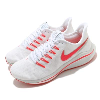 Nike 慢跑鞋 Zoom Vomero 14 運動 女鞋 氣墊 舒適 避震 路跑 健身 球鞋 白 紅 AH7858101