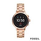 FOSSIL VENTURE HR-第4代智慧型手錶-不鏽鋼錶帶-玫瑰金