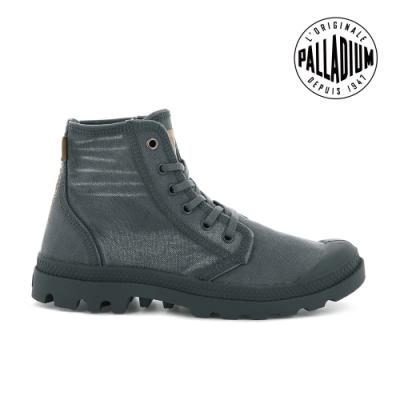 PALLADIUM PALLADENIM單寧帆布靴-女-鐵灰