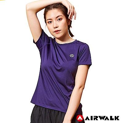 【AIRWALK】女款吸排短T-深紫