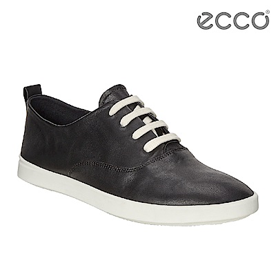 ECCO LEISURE超柔軟牛皮透氣休閒鞋 女-黑