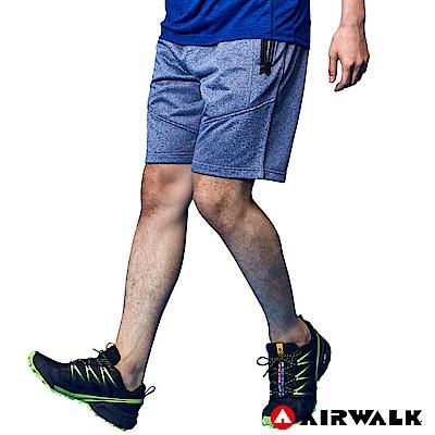 【AIRWALK】男款休閒短褲-麻藍