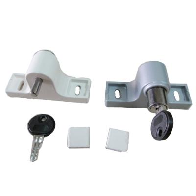 HE011  金屬材質 高閂鎖/高腳門閂鎖/鋁門紗門栓鎖/栓座 台灣製