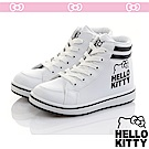 HelloKitty 極簡風輕量減壓抗菌防臭休閒高筒童鞋-白