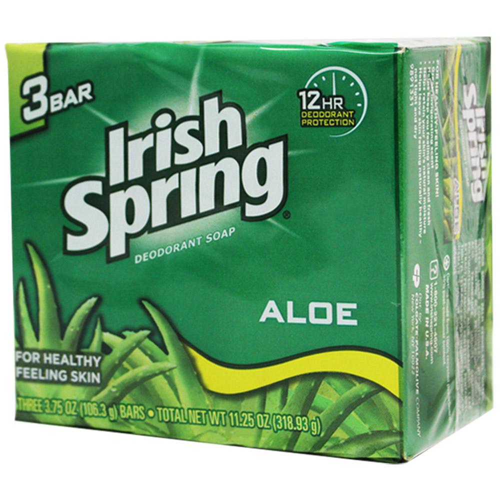 美國 Irish Spring 蘆薈香皂-106.3g(3入組)