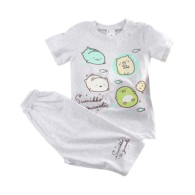 魔法Baby ~男童裝 角落小夥伴授權正版短袖舒柔彈性睡衣套裝 k51770