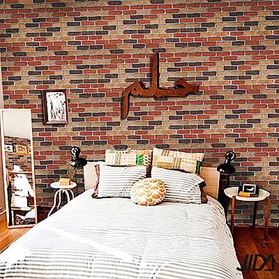 佶之屋 DIY立體3D仿真石紋木紋自黏壁貼 45x300cm-混色磚
