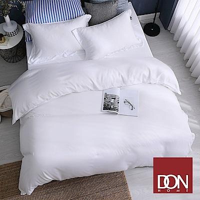 DON羅拉白 雙人四件式60支紗親膚天絲被套床包組