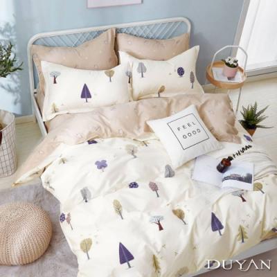 DUYAN竹漾-100%精梳純棉-單人床包被套三件組-暖陽森林 台灣製