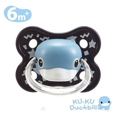 KUKU酷咕鴨 造型安撫奶嘴-較大(糖心藍/蜜桃粉)