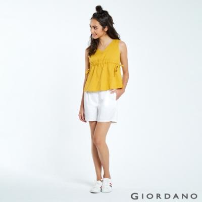 GIORDANO  女裝Classic輕便短褲 -13 標誌白