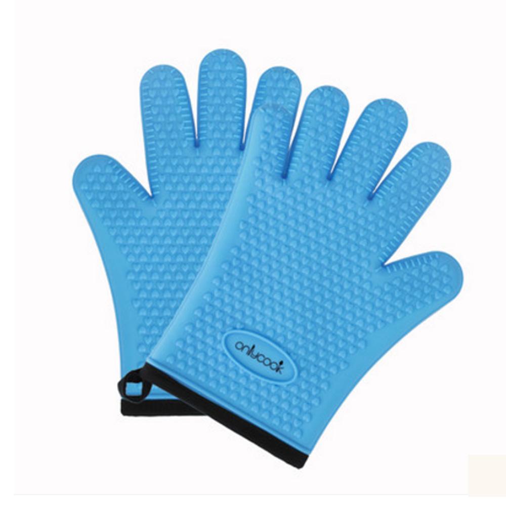 PUSH!廚房餐具用品 防燙矽膠手套 D165