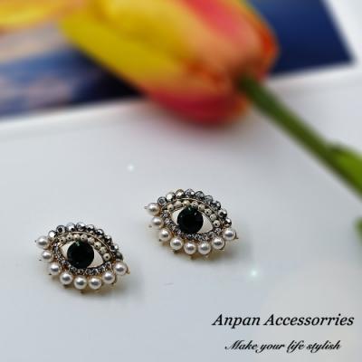 【ANPAN愛扮】韓東大門泫雅同款彩色眼睛925銀針耳釘式耳環