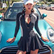 泳衣 率性簡約 二件式比基尼連身泳裝(黑M~XL)AngelHoney天使霓裳 product thumbnail 1