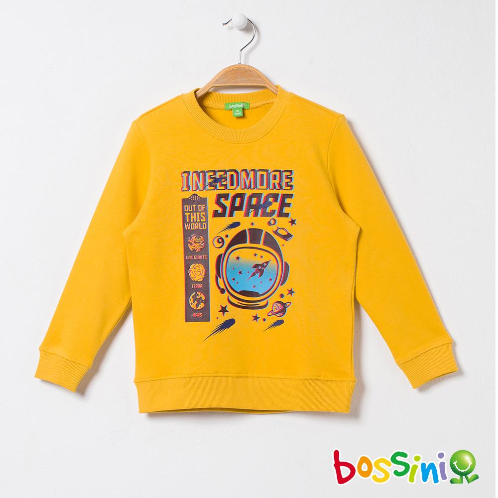 bossini男童-印花厚棉運動衫03深黃