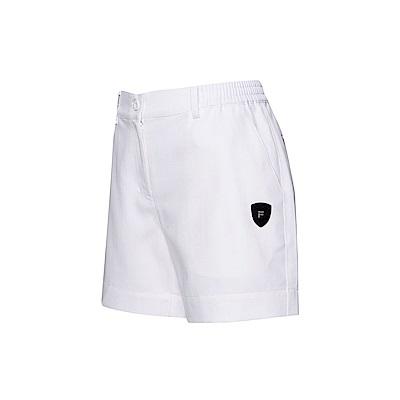 FILA 女款平織短褲-白色 5SHT-1493-WT