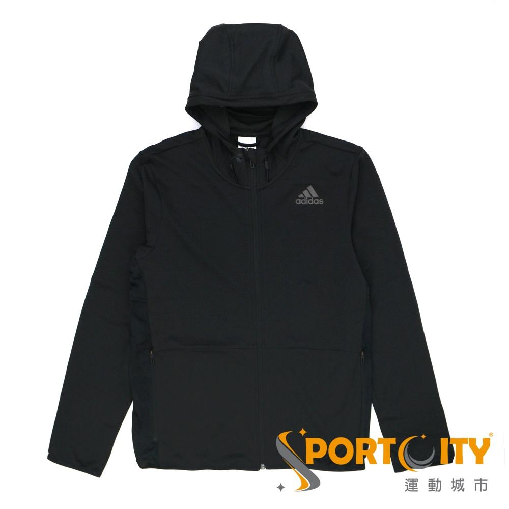 ADIDAS 男 連帽外套 黑-BK1087