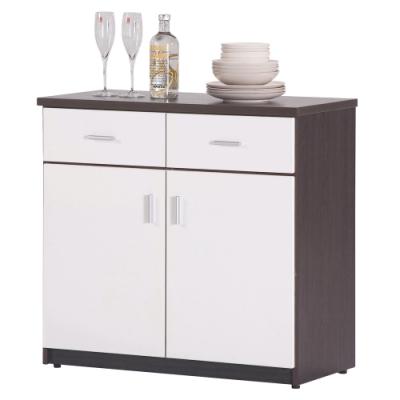 顛覆設計 防水塑鋼2.7尺碗碟櫃/收納櫃(四色可選)-83x42x80cm