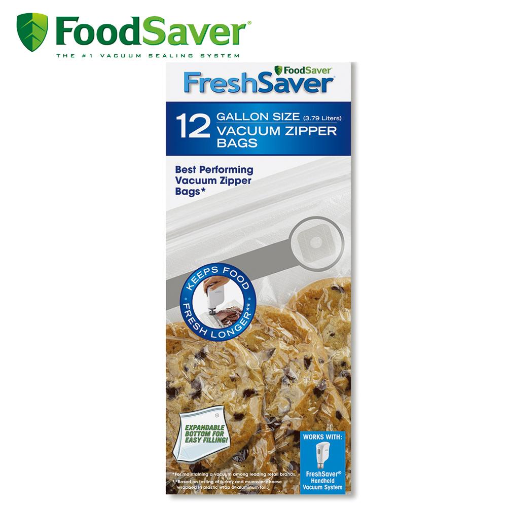 美國FoodSaver-真空夾鍊袋12入裝(3.79L)