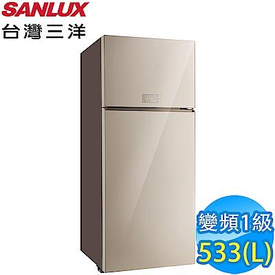 [無卡分期-12期] SANLUX台灣三洋 533L 1級變頻2門電冰箱 SR-C533BVG
